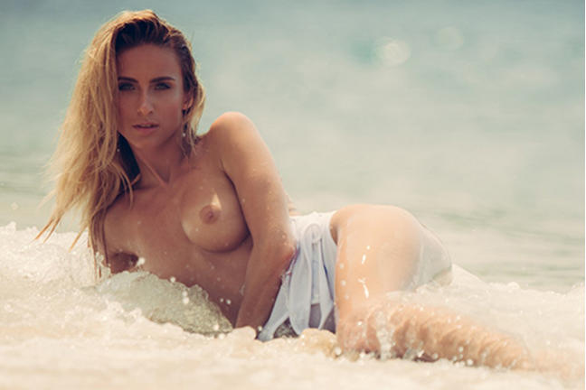 Cara Mell in Sand and Surf