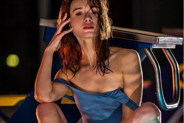 Vi Shy in Seductive Swim