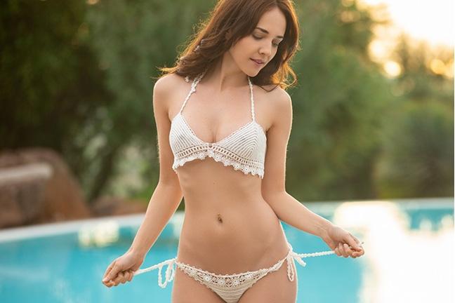 Bianka Helen in Poolside Relaxation