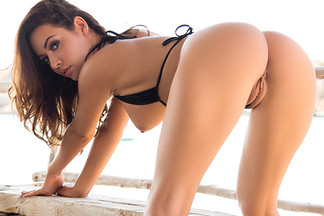 Adrienn Levai in Scenic Strip Down